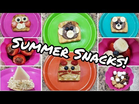 Summer Snacks - A Week Of Kid Snacks - Food For Littles - Snack Time! - Summer Camp Snacks