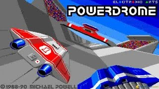 Powerdrome gameplay (PC Game, 1988)