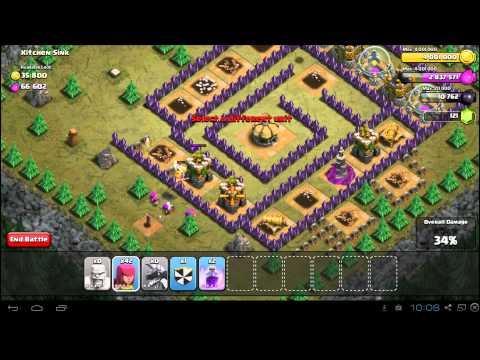 Clash Of Clans Kitchen Sink 3 Star Campaign Guide TH7