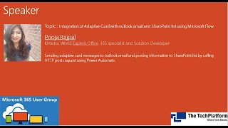 Integration of Adaptive Card with outlook email and SharePoint using Microsoft Flow by Pooja Rajpal