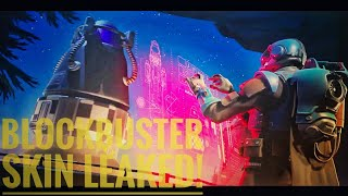 FORTNITE BLOCKBUSTER SKIN *LEAKED*! + DUSTY IMPACT+ VILLAIN BASE ROCKET LAUNCH STORY!!!!