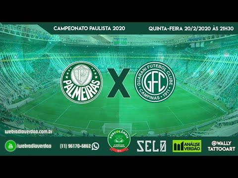 Palmeiras x Guarani - AO VIVO - Allianz Parque - Campeonato Paulista 2020 - 7 rodada