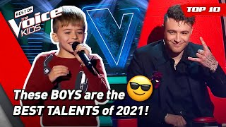 The BEST BOYS Blind Auditions of The Voice Kids 2021! 😎  Top 10