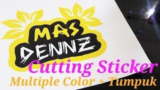 cara membuat cutting stiker tiga warna manual