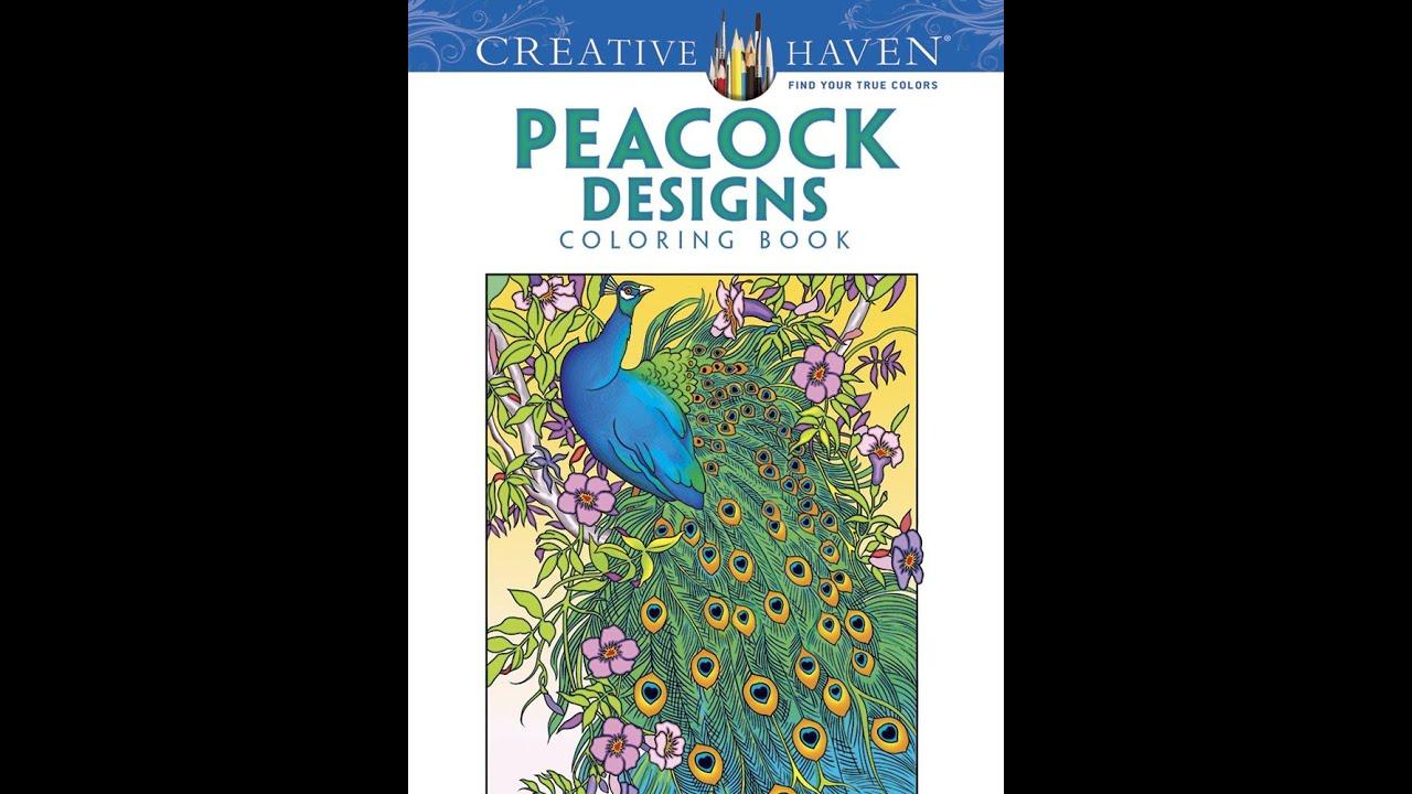 flip through creative haven peacock designs coloring book by marty noble youtube - Peacock Coloring Book
