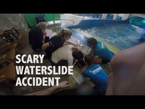 Scary Waterslide Accident at Center Parcs, Woburn Forest (ORIGINAL)