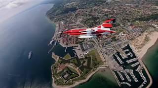 F-16 fejrer Dannebrog