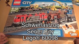 LEGO Schwerlastzug 60098 Review (City Heavy-Haul Train Test deutsch)