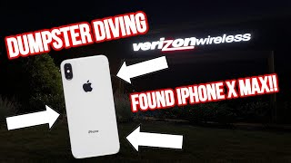 FOUND IPHONE Xs MAX VERIZON STORE DUMPSTER DIVING!!