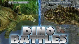 DINO BATTLES - Stegosaurus vs. Tyrannosaurus