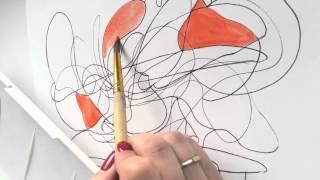 Нейрографика - супер-способ быстро справиться с раздражением и получить красивую абстракцию на стену