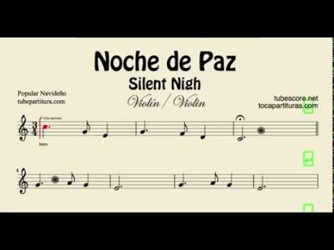 Noche De Paz Partitura De Violin Youtube