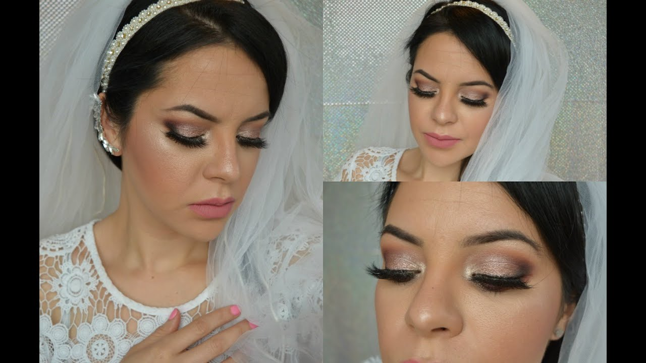 TUTORIAL Maquillaje Para Novia de día y noche + 3 Tips ♥ Angela Garza ,  YouTube