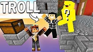 ON SE FAIT TROLL PAR UN LUCKY BLOCK SUR MINECRAFT ! | Minecraft Skywars