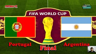 PORTUGAL vs ARGENTINA FIFA WORLD CUP 2022 FINAL PES 2021 Gameplay PC