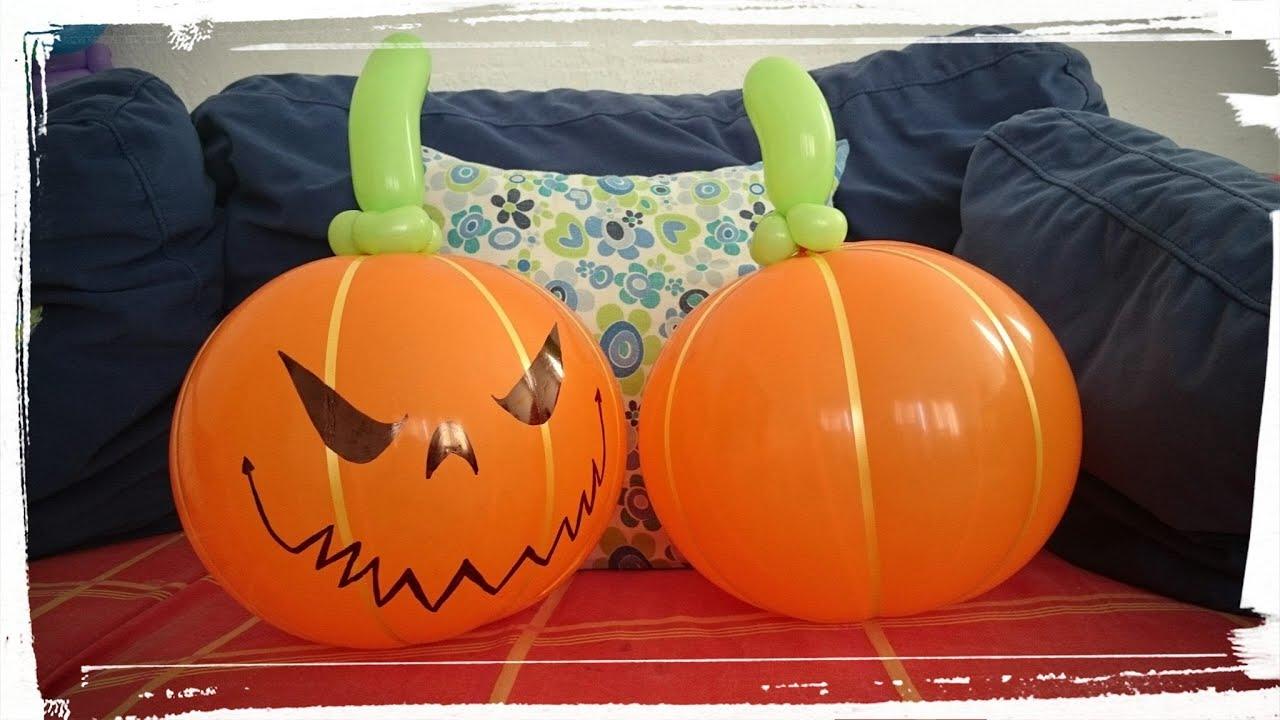 Calabaza con globos para halloween youtube - Calabazas de halloween manualidades ...