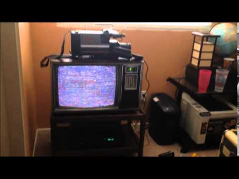 footage from my 4 vintage VHS camcorders! Using vintage Zenith TV
