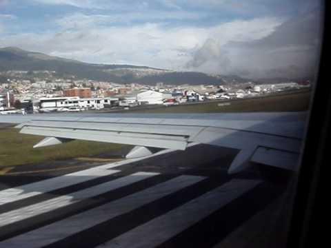 American Airlines Departure From Quito Ecuador Feb 2009