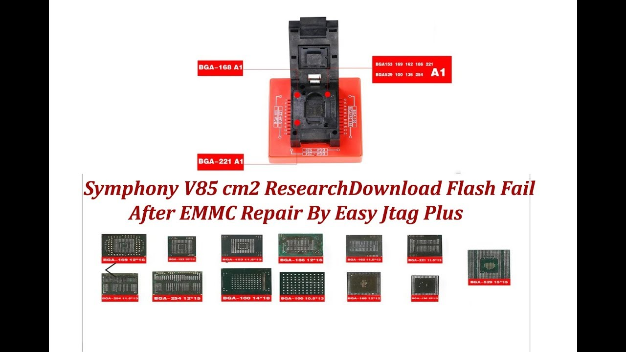 Symphony V85 SPD Flash Fail After emmc repair By Easy Jtag Plus II spd emmc  Repair Easy Jtag