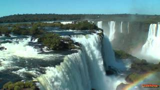 Brazil - Iguassu Falls,Brazilian side 3 - South America Part 15 - Travel Video HD