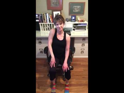 office chair yoga shoulder rolls an s neck stretch  youtube