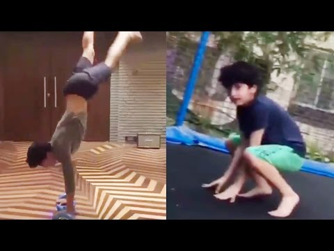 SRK and Hrithik's Son Performing Stunts Must watch
