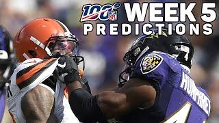 NFL Regular Season Week 5 Predictions