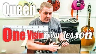 Queen - One Vision - Guitar Tutorial with guitar tab