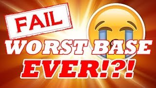WORST BASE EVER !?! (FAIL)   MAXING TH8 AIR DEFENCE!   Clash Of Clans