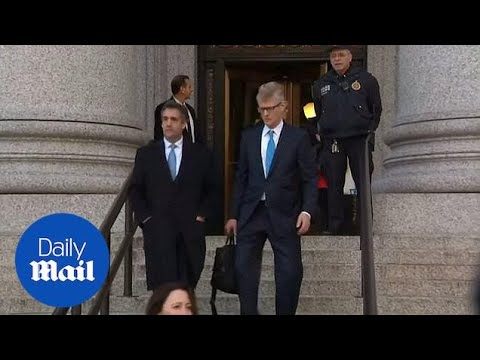 Michael Cohen walks out of court after pleading guilty to lying