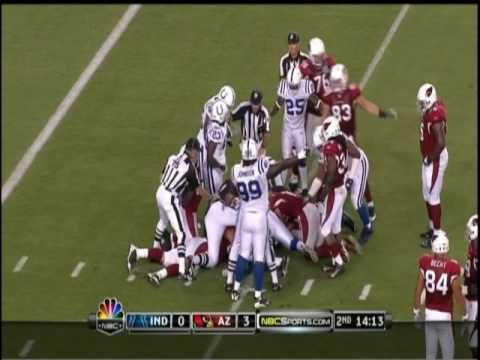 Indianapolis Colts at Arizona Cardinals Week 3 2009 - Tim Hightower Fumble Game Breaker
