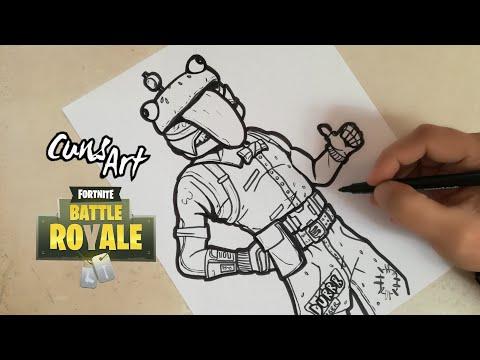 Como Dibujar A Beef Boss Durrr Burger Fortnite How To