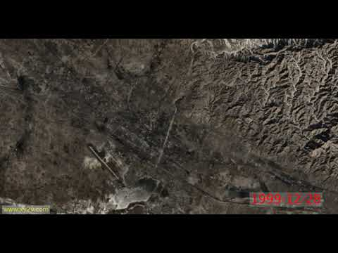 China, Baotou, the highest frequency timelapse from space (1984..2020)
