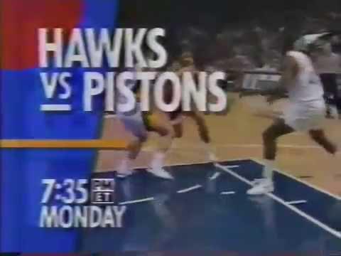 TBS Sports: Hawks vs. Pistons (circa 1992)