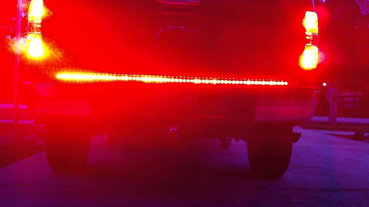 Led Tailgate Light Bar W Reverse Hardwire Install On 2012