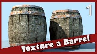 Texture A Barrel In Maya: Wood