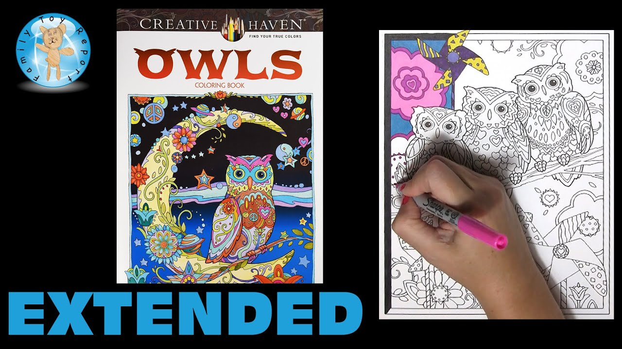 Creative Haven Owls By Marjorie Sarnat Adult Coloring Book Three Extended