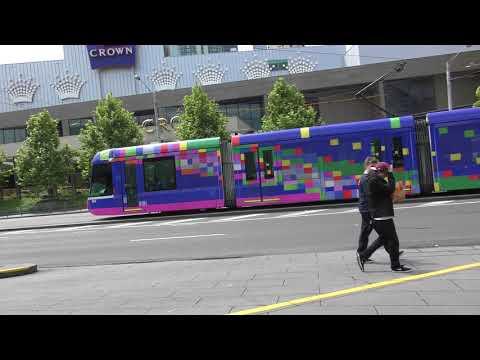 Melbourne Art tram Beautiful Stranger by Robert Owen C3008 Crown Casino