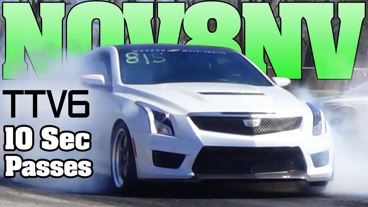 10 second V6 twin turbo Cadillac ATS-V Edgewater drag ...