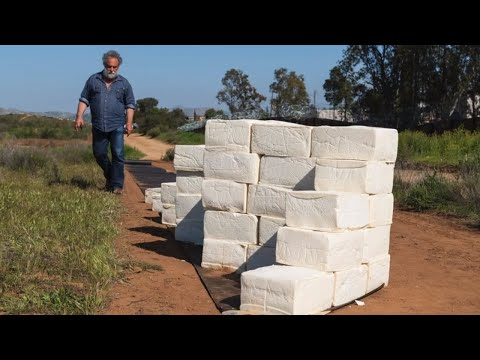 Wake Up Call - Artist Builds Cheese Border Wall to Make America Grate Again