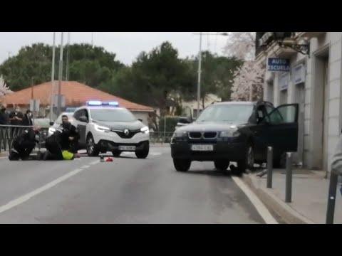 Impactante detención de un atracador en Colmenarejo