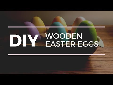 DIY: Painted Wooden Easter Eggs!