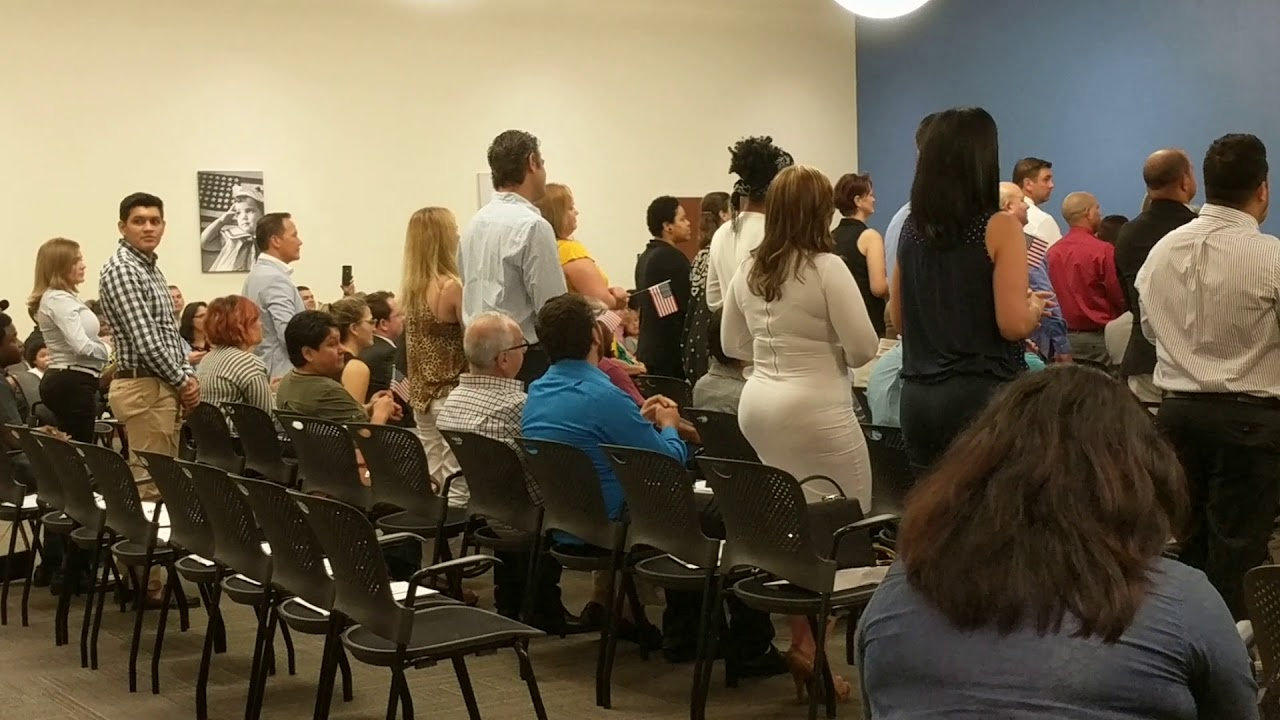 Naturalization Oath Ceremony, Tampa FL Recognizing 27 Countries