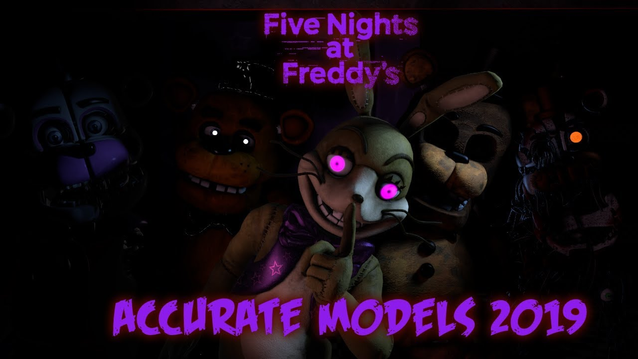 Most Accurate FNaF SFM Models 2019 (Happy 5th Anniversary!)
