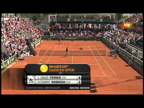 David Ferrer vs Tommy Robredo (ATP 250 Bastad 2012) 1/2