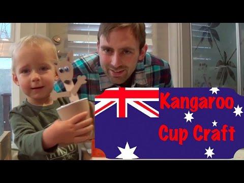 Kangaroo Cup Craft For Australia Day - Logan's Life
