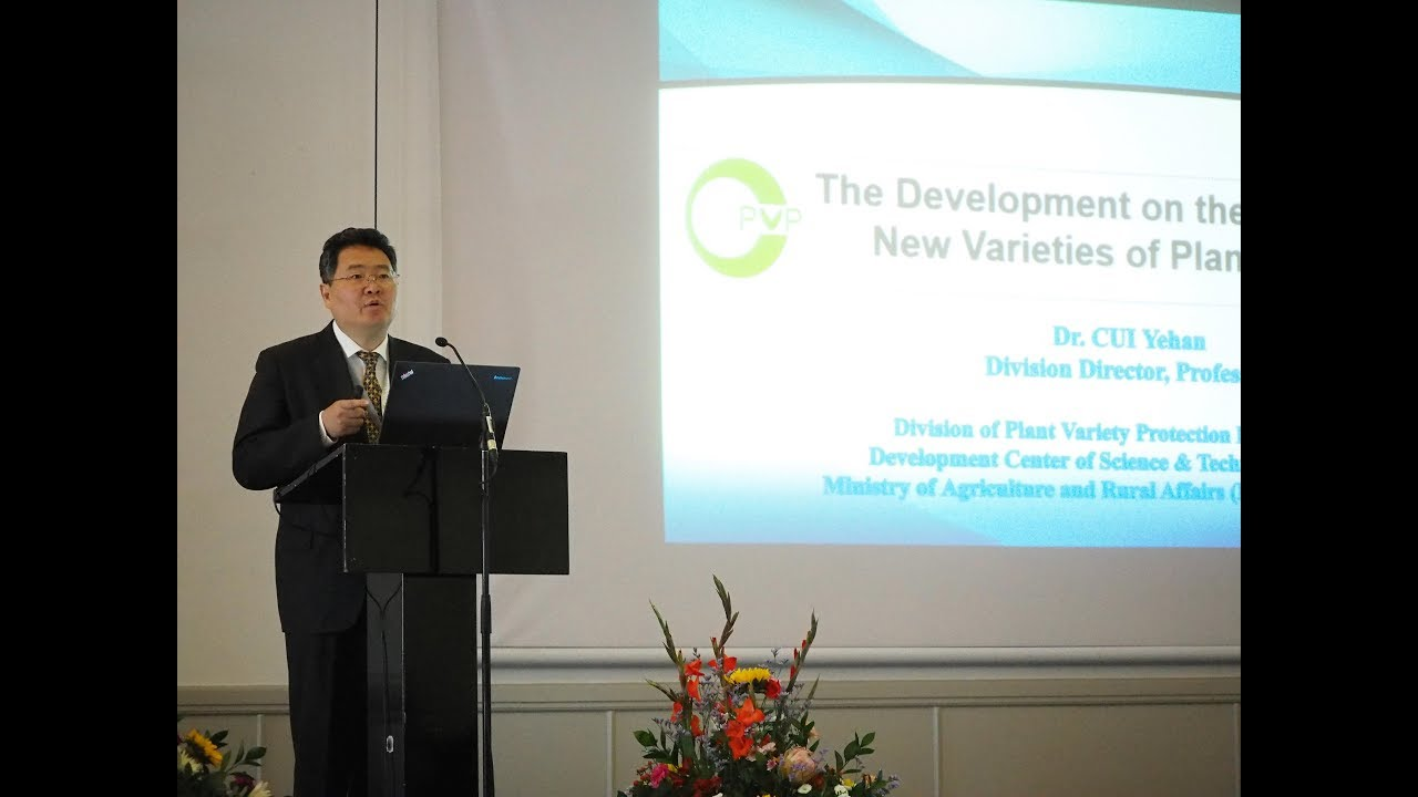 Developments in Plant Variety Protection in China by Dr Cui Yehan, MARA