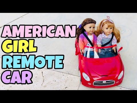 American Girl Dolls Go For A Drive In New Car