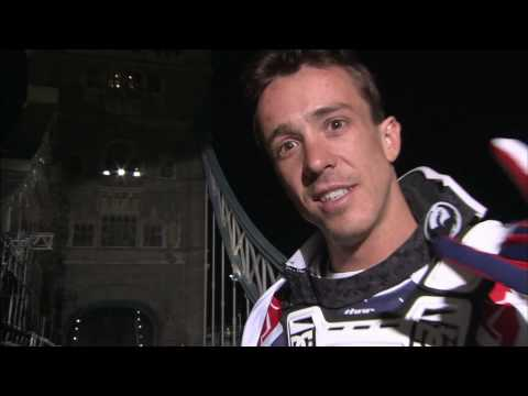 Robbie Maddison backflips the Tower Bridge in London