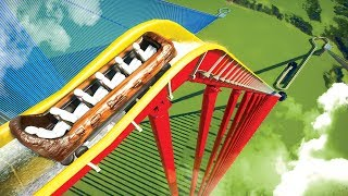 Building a Log Flume that no one would survive on in Planet Coaster